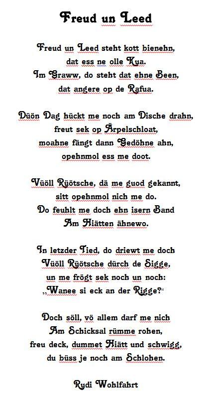 Rudi Wohlfahrt - Freud un Leed