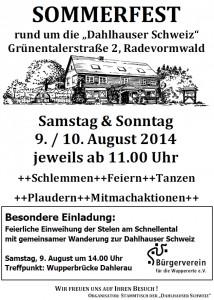 Plakat Sommerfest-Buergerverein2014
