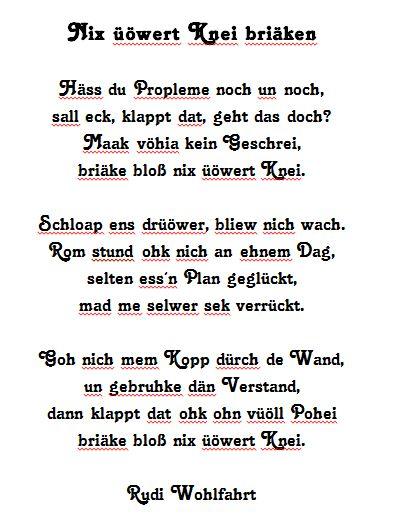 Rudi Wohlfahrt - Nix üöwert Knei Briäken